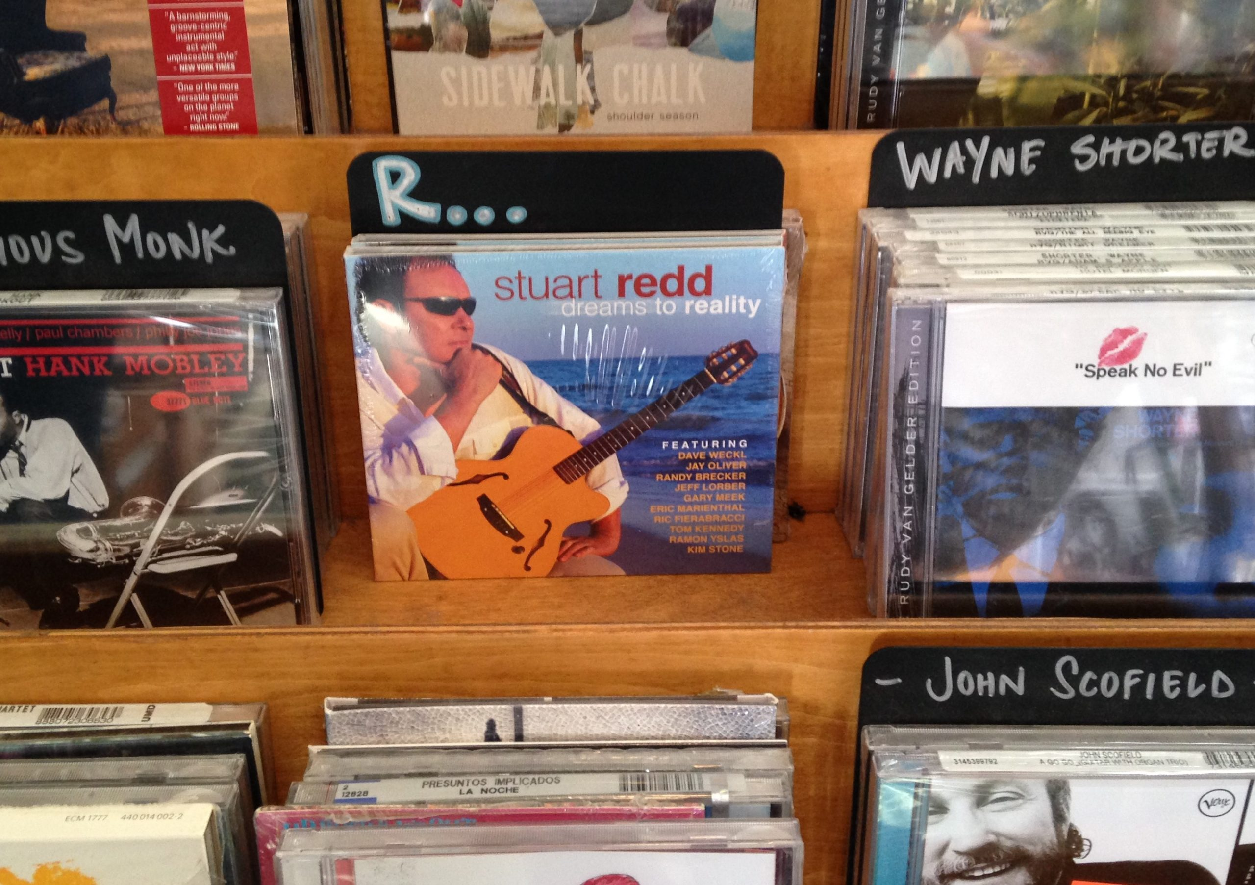Stuart Redd's Dreams to Reality On Sale At Central Square Records In Seaside,FL